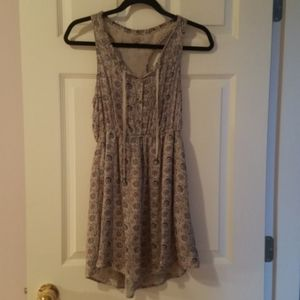 Urban Outfitters Ecoté Double Lined Gray Dress